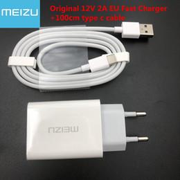 caricatore originale meizu Sconti cavo originale MEIZU 12V 2A UE rapido Quick Charger adattatore + 100 centimetri tipo-c USB per Meizu MX6 15 PLUS PRO 6 6S 7 PLUS MEILAN X E3