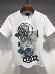 Patrones de camisetas deportivas online-nuevo patrón de productos de otoño camiseta de la impresión de los deportes de Dsquared2 / D hombres cuadráticas