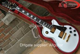 Guitare électrique en or blanc en Ligne-custom shop matériel de musique or alpin en ébène blanc alpin blanc en stock