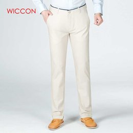 1b217b5fabd 2019 Spring New Men Suits Pants Middle-waisted Pantalon Costume Homme Pure  Color Mens Trousers Formal Male Office Casual Pants