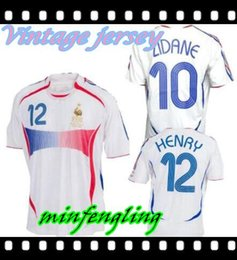 98201ca89 2006 Retro Soccer Jersey ZIDANE Henry Trezeguet Vieira Ribery 06 world cup  France Vintage Football Shirts Maillot de Foot top quality discount france  jersey ...
