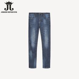 fabrik marke jeans Rabatt Marke Herrenbekleidung Fabrik Frühling 2019 Daily Herren elastische Jeans Loch Hose Hosen Basic Jeans