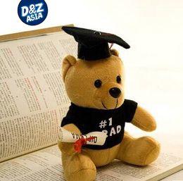 2019 oso de graduación de juguete Peluches Hot doctor 1pcs 20cm Dr. aprenda a leer Regalos de graduación de muñeca de peluche oso de graduación de juguete baratos