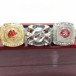 2019 diseños antiguos anillos de oro 2019 Fans'Collection of Souvenirs Toronto 2018 2019 Raptors Championship Ring TideRegalos para amigos