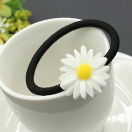 decorações de flores frescas Desconto Verão pequeno fresco Daisy flor hairpin han novo cabelo decoração atacado atacado cabelo anel de jóias por atacado
