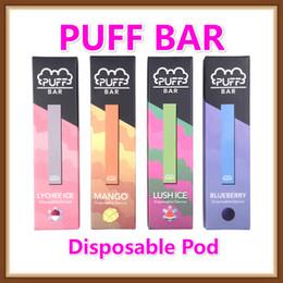 2019 vape mod pink 13 sabores com Código de Segurança Puff Bar descartável Pod Starter Kit 280mAh bateria com o cartucho de 1,3ml de dispositivos Pods Vape Pen MANGO LYCHEE ICE