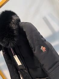 Зимнее пальто женщин съемное онлайн-женский воротник одежды съемный мех лисы 2019 лыжи с длинным рукавом пуховик теплая женская зимняя куртка и пиджаки куртка с капюшоном куртка 31-16