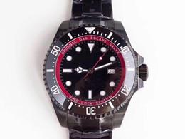 relógio automático personalizado Desconto Relógios de luxo de mergulho profundo personalizado tecnologia de revestimento a vácuo relógio de vidro de safira à prova d 'água de dobramento automático mens relógios