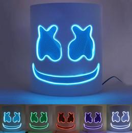 capacetes de festa Desconto Luminous Máscara DJ Music Festival LED Helmet Máscara Halloween Prop Partido Cosplay Bar Máscaras DJ Máscaras Marshmallow GGA2749