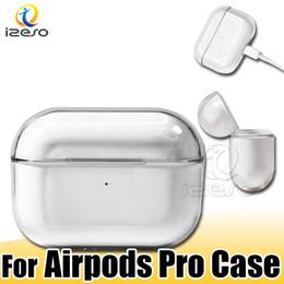 stoßfestes gehäuse Rabatt PC Clear Case Shell für AirPods Pro Transparent Hard Cover für Airpod Prokratzer Shock Staub resistent für Airpods Schutzhülle izeso