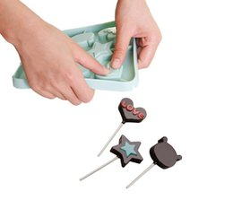 2019 palos de paletas Molde Lollipop DIY para hornear de silicona 3D hecho a mano Pop Sucker Sticks Lolly Candy Chocolate molde con forma de palo palos de paletas baratos