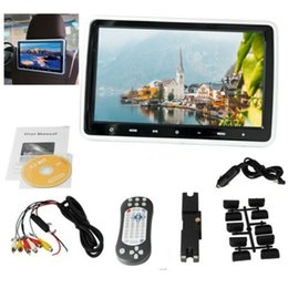 "Lcd monitores china on-line-10.1 ""Tela LCD Encosto de Cabeça USB DVD Player FM IR Jogo Car Multimedia Monitor Kit GPS"