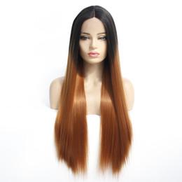 Синтетические полусинтетические парики онлайн-14-26 дюймов # 1B 30 парики из синтетического кружева. Прямой безклеевой термостойкий парик из синтетического волокна. Полный парик.