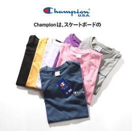 2019 t-shirts japanisch Europäische und amerikanische japanische Männer Champion C BB klassische Limited Edition dreidimensionale Stickerei T-Shirt Retro Frauen Kurzarm T-Shirts rabatt t-shirts japanisch