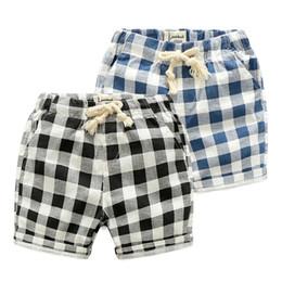 Shorts da praia da manta dos miúdos on-line-2019 OLEKID Verão Meninos Shorts 100% Algodão Marca da Praia Xadrez das Crianças Shorts Para 2-7 Anos de Roupas Infantis Shorts Adolescente