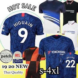 2019 kits criança Kante Tailândia PULISIC ABRAHAM LAMPARD ODOI WILLAN jérsei de futebol 2019 2020 MOUNT kits de futebol camisa 19 20 SETS Homens Mulher Kids kits criança barato