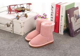 Tecido de neve on-line-clássico infantil atacado botas de neve de inverno 100% tendão tecido de lã menino fundo inverno menina quente botas de neve 5825 tamanho EU21-35