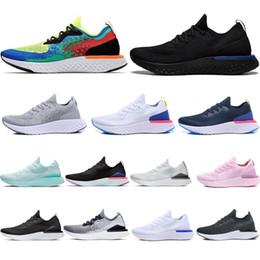 Voar praia on-line-nike,Flyknit New Épico React v2 Designer homens mulheres voar Sapatos de PRAIA de malha Sprite Bélgica PE Crepúsculo ao Amanhecer BETRUE Oreo GS running sport Sneaker