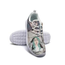 Argentina Billie Eilish Bury A Friends Fashion, zapatos de almohadilla de espuma de diseño Unisex comodidad microfibra edición limitada de cordones cheap padded shoe laces Suministro