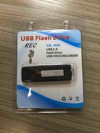 Hq registratore online-Spy Giradischi USB Flash Drive MEMORY STICK Portatile ricaricabile 8 GB HQ 650Hr Penna registratore audio digitale digitale dittafono nero 1 PZ
