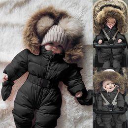 vêtements unisexes nouveau-nés ensembles en gros Promotion CHAMSGEND Veste d'hiver vêtement bébé bébé fille Vêtements Romper Veste à capuche Jumpsuit chaud épais manteau Outfit 19June10