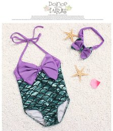 88c279fba918e 2019 PrettyBaby bowtie Fashion Princess Girls Mermaid Swimsuit one piece Kids  Toddler Bikini 2 Pcs Suit Child Swimwear Children Bathing