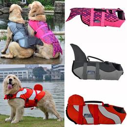 grands vêtements de chien Promotion Chien gilets de sauvetage manteau gilet cosplay sirène requin animal natation formation chien maillot de bain gros chien vêtements s / m / l