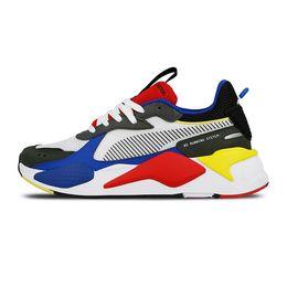 Обувь для мужчин онлайн-PUMA rs x 2019 Новый Высокое Качество Puma RS-X Reinvention Игрушки Мужские Кроссовки Марка Дизайнер Мужчины Трансформеры Hasbro Случайные Женские rs x Кроссовки Размер 36-45