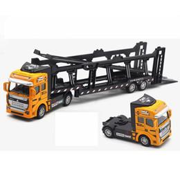 metallguss Rabatt Kinder Jungen Legierung Transportfahrzeug Lkw Auto Modell Hohe Simulierte Modell Spielzeug