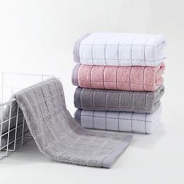 2019 erwachsene wischt Baumwolltuch Paar Wipes Nudeln Haushalts weiche Absorbent Adult Wash Handtuch Small Square Haushalt Plaid Stripes Handtücher B günstig erwachsene wischt