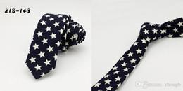 2020 diseño de bandera roja Azul marino Diseño de estrella roja Corbatas de algodón corbata de la bandera americana Corbata casual de moda Hombres rebajas diseño de bandera roja