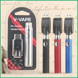 visualizza la variabile Sconti Batteria del preriscaldamento del filetto Vertex 510 della batteria della penna Vape della batteria di 650mah VV per le cartucce di Vape di G2 CE3 DHL liberamente