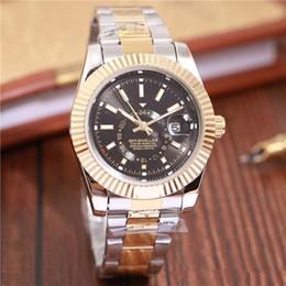 Relogio masculino mens relógios de Luxo wist moda Mostrador Preto Com Calendário Bracklet Folding Fecho Mestre Masculino 38mm giftluxury Mens Relógios de