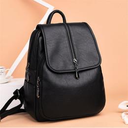 7130ef131 2019 coreano moda senhora mochila de couro Senhoras da moda mochila novo  saco coreano tendência viagens