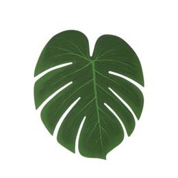 Canada 5pcs simulation plante tissu de soie faux paume feuilles ornement arrangement de fleurs ressemble à de vraies feuilles, extérieur naturel frais. Offre