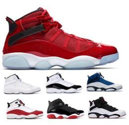 6 6s Six Rings Scarpe da basket Sneakers Jumpman Concord Bred Giallo Ice Gym Coriandoli rossi Confettura spaziale Uomo Uomo 2019 Scarpe classiche Cestini da