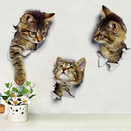 2020 wandgemälde decals vinyl Katzen wc schalter aufkleber katze wandaufkleber vinyl aufkleber für home poster diy 3d vivid decor günstig wandgemälde decals vinyl