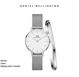 2019 nuova tendenza all'orologio nuova tendenza Ragazze striscia d'acciaio Daniel Wellington orologi 32mm 36mm donna orologi di lusso orologio al quarzo DW orologio Relogio Feminino Montre Femme nuova tendenza all'orologio economici
