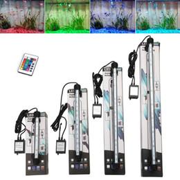 Argentina Acuario de la UE tapa del tanque de pescados de luz LED RGB de colores bajo el agua sumergible barra ligera impermeable SMD acuática de la lámpara con control remoto Suministro