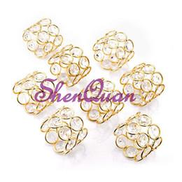 Серебро / золото Кристалл металлические кольца для салфеток, элегантный двойной слой круглый Кристалл держатель салфетки свадебные украшения, свадебные кольца для салфеток от Поставщики салфетка кольцо элегантный