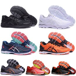 Scarpe da tennis marrone per le donne online-Gel Asics gel Triple Nero Bianco Arancione Viola Gel-Kayano 23 T646N Scarpe da corsa da uomo Grigio Verde Blu Marrone da donna designer scarpe da ginnastica taglia 36-45