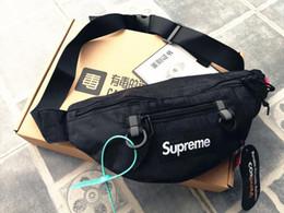 Sacchetto della cinghia del telefono mobile online-supreme backpack striscia riflettente sacchetti della vita delle donne Uomini marsupi Hip Borse cintura di denaro Viaggiare marsupi Alpinismo Mobile Phone Bag
