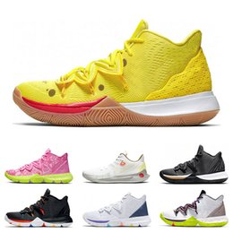 blanc orange chaussures de basket-ball kyrie Promotion Kyrie 5 2019 Baskets sport baskets pour hommes chaussures de basket-ball 5s AMIS Matallic gold hero CNY Have A Day noir blanc fashion respirant taille 7-12
