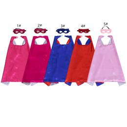 Capas super-heróis para crianças on-line-Crianças super herói capes e máscaras de natal vestir trajes a festa de aniversário tema roupas para meninos e meninas
