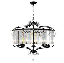 Modern Luxury E14 Gold Black Iron Crystal Glass Led Chandelier accesorios de iluminación para Loft escalera salón baño lámpara LLFA desde fabricantes