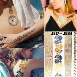 Dentelle Fleur Flash Autocollants De Tatouage Femmes Chaînes Or Métallique Temporaire Filles De Tatouage Cheville Tatto Imperméable À L'eau ? partir de fabricateur