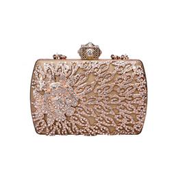 Boutique di cristallo online-Borsa a tracolla con borsa da sera di lusso in cristallo di sugao rosa Borsa a portafoglio in feltro con diamanti Top in oro con diamanti
