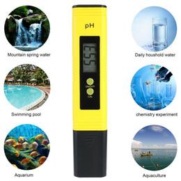 2020 acquario digitale tester ph Digital LCD PH tester del tester della penna acqua dello stagno dell'acquario di vino pH delle urine-2 PH-02 Più nuovo tipo di Protable penna PH Metri Penne CCA11939 20pcs sconti acquario digitale tester ph