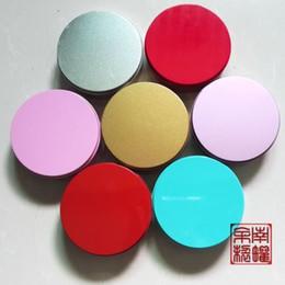 2019 blaue runde süßigkeit Blau doppelseitiger Lack Druck Große runde Art und Weise Candy Box Aufbewahrungsbox Metall-Box Trend kann angepasst werden