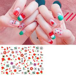 Fiori di chiodo online-Frutta Nail Art Sticker Fiore Arancione Fragola Nail Art Sticker Moda Nail Art Decration Manicure Strumento Suggerimenti RRA1000